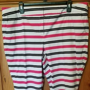 NY & Co stripped crop pants sz 20